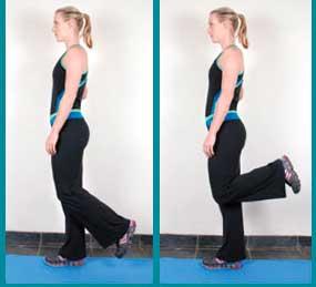 Упражнение - напряжение подколенного сухожилия