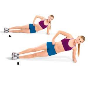 Упражнение - боковой подъем бедра