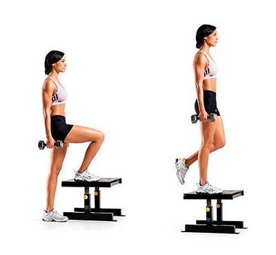 Упражнение для разработки коленного сустава - подъем по лестнице