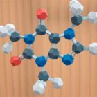 модель молекулы кофеина