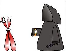 теломера и смерть - карикатура
