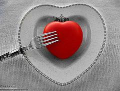 сердечко на тарелочке
