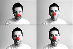 клоун с красным носом