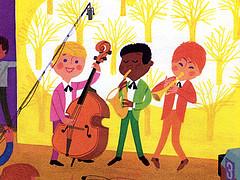 карикатура - детский оркестр