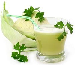 Капустный сок в борьбе с язвой желудка