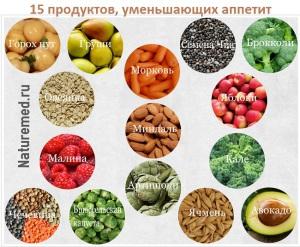 Топ 15 продуктов, уменьшающих аппетит