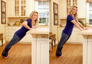 Отжимания от кухонной столешницы