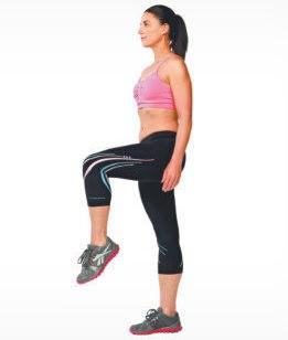 Упражнение - балансировка на одной ноге